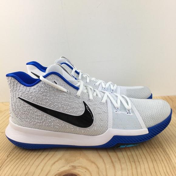 Brand New Mens Nike Kyrie 3 852395-102 White//Black Size 14